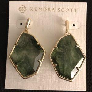 Kendra Scott Green Stone Earrings new